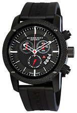 Burberry Endurance BU7701 Sport Swiss Chronograph Black Rubber Strap Men Watch