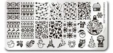 Rectangle DIY Manicure Nail Art Stamp Template Christmas Image Plate BPX-L008