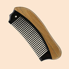 10pc/lot  Wholesale Wood Horn Pocket Comb Handmade Fine  Beard  Hair Comb Brush