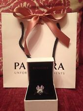 Genuine Disney Pandora Minnie Mouse Pave Charm Limited Edition Pandora Box & Bag