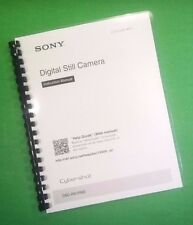 COLOR PRINTED Sony Camera Cyber-Shot DSC RX1RM2 Manual Guide 92 Pages