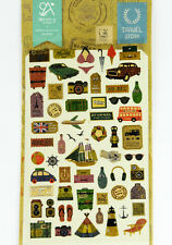 1 sheet Travel theme camera sailing Korean Craft scrapbooking filofax stickers