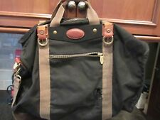 TUMI DAKOTA  Large duffel bag Black Canvas Tan Needs Repair 20""