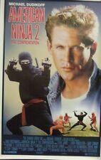 American Ninja 2 The Confrontation Original Single Sided Movie Poster Rare
