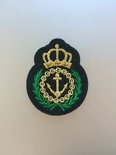 Anchor Crest Patch - Embroidered/Iron/Sew/Stitch/Glue On - Ship Maritime Boat