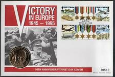 ISLE OF MAN 1995 VICTORY IN EUROPE £5 COIN COVER