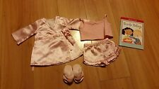 American Girl Satin Pajamas Set with Book EUC