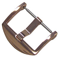 24mm Panatime Rose Gold Tone ARD Watch Buckle - Spring Bar Attachment