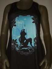 NWT Medium Black The Little Mermaid Ariel Sea Racerback Tank Top Shirt Disney M