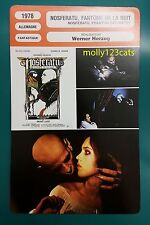 German Vampire Movie Nosferatu the Vampyre Klaus Kinski  French Film Trade Card