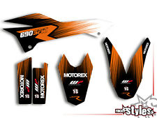KTM 690 SMC SMC/R ENDURO (08-17) | FACTORY DEKOR DECALS KIT Aufkleber graphics