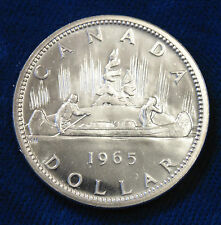 1965 CANADA Canadian .800 PL Proof Like silver dollar great 51st birthday gift