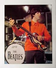 Beatles Poster Paul McCartney Hofner Bass Guitar George Harrison Music Pinup Art