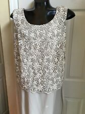 R&M Richards By  Karen Kwong Lace Ling Dress Sz 14
