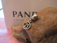 GENUINE PANDORA 21 BIRTHDAY/ COMING OF AGE CHARM 790496 ALE 925
