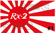 ROTARY JDM STICKERS for RX2 RX3 RX4 RX7 RX8 - RISING SUN RX-2 #01