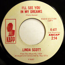 LINDA SCOTT 45 I'll See You In My Dreams / Don't Lose Your PROMO Mod Beat w5452