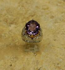 VICTORIA WIECK STERLING AMETHYST AND RHODOLITE 2 TONE RING SIZE 6 HSN SOLD OUT