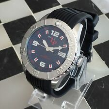 LP Italy LP-2111BU Date 200M W/R Navy Blue Dial Men's Watch