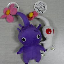 """Pikmin White and Purple Flower 5"""" 8"""" PLUSH STUFFED ANIMAL set of 2 pcs"""