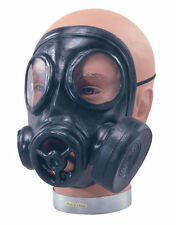 BLACK GAS MASK RUBBER WW2 #WARTIME FANCY DRESS ONE SIZE COSTUME ACCESSORY
