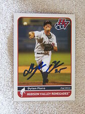 Tampa Bay Rays Dylan Floro Signed 2012 Hudson Valley Renegades Card Auto