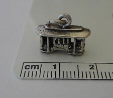 20% off clearance Sterling Silver 3D 12x15mm Trolley Cable Streetcar Car Charm