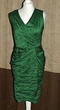 Phase Eight / 8 Winona Crush dress in Emerald Green Size 16 RRP £150
