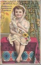 TRADE CARD-MARSEILLES WHITE SOAP, LUTZ BROS. & CO, BUFFALO, NY