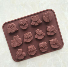 12 Owls Silicone Base Chocolate Cookie Mould Baking Ice Cube Jelly Candle Cake
