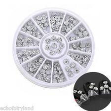 1 Boîte 3D Déco des Ongles en Diamant Artificiel et Studs Nail Art Décoration