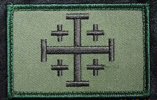JERUSALEM CROSS INFIDEL CRUSADER EMBROIDERED HOOK MORALE PATCH