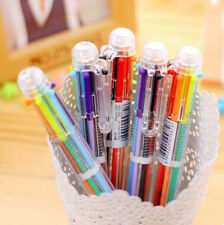 New Multi Color Study Hot 6 Color Stationery Pen Fashion Ballpoint Pen