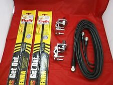 NEW CB RADIO 2 FIRESTIK FL4 4FT CB ANTENNAS, 18FT DUAL COAX, BRACKETS & STUDS