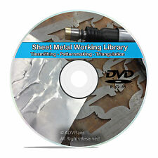 Sheet Metal Cutting Tinsmithing Pattern Drafting Work Shop Books CD DVD V72