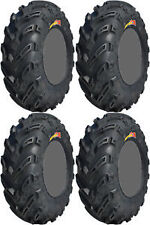 2- 27x10-12 & 2- 27x12-12 GBC DIRT DEVIL ATV SET TIRES CLAW MUD BEAR EXECUTIONER