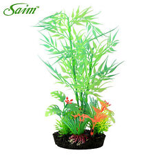 Green Glowing Effect Plant  Artificial Bamboo Leaf Fish Tank Decorative Aquarium