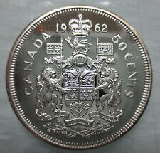 1962 CANADA 50 CENTS PROOF-LIKE SILVER COIN