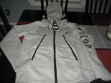 MENS NIKE AIR JORDAN LOGOS HOODIE SIZE M MEDIUM GRAY/BLACK   NWT $110