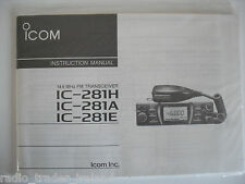 ICOM-281H/A/E (GENUINE INSTRUCTION MANUAL ONLY).......RADIO_TRADER_IRELAND.