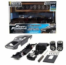JADA 1:24 BUILD N' COLLECT FAST & FURIOUS 7 DOM'S DODGE CHARGER R/T Diecast Car