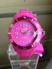 newstuffdaily: NIB ICE Summer Neon Purple Pink Silicone Strap Big Watch