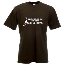 And on the 8th day God went Scuba diving watersports aqua t-shirt