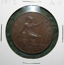 1912 GREAT BRITAIN - KING GEORGE V -  ONE PENNY - UK - AU COIN