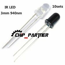 10pcs Launch + 10pcs Receiver 3mm 940nm IR Infrared Diode LED Lamp