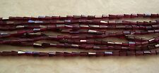 "14"" Strand Color Enhanced Garnet Gemstone Faceted Cone Beads 5mm-7mm"
