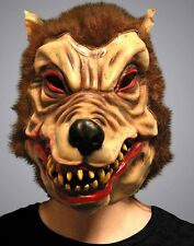 Latex Quality Halloween Horror Adult Unisex Wolf Mask Scary Fancy Dress Werewolf