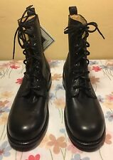 NWT FRYE Rogan Tall Lace Up Black Leather Combat Boots Size Men's 9.5D Shoes