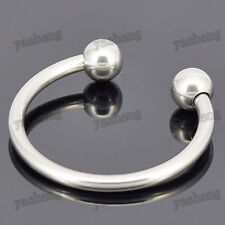 Mens Stainless Steel Penis Ring Impotence Erection Aid With Pressure Point Balls