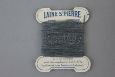 P512 mercerie vintage ancienne 1 carte fil LAINE SAINT PIERRE gris chiné 8,8*7,2